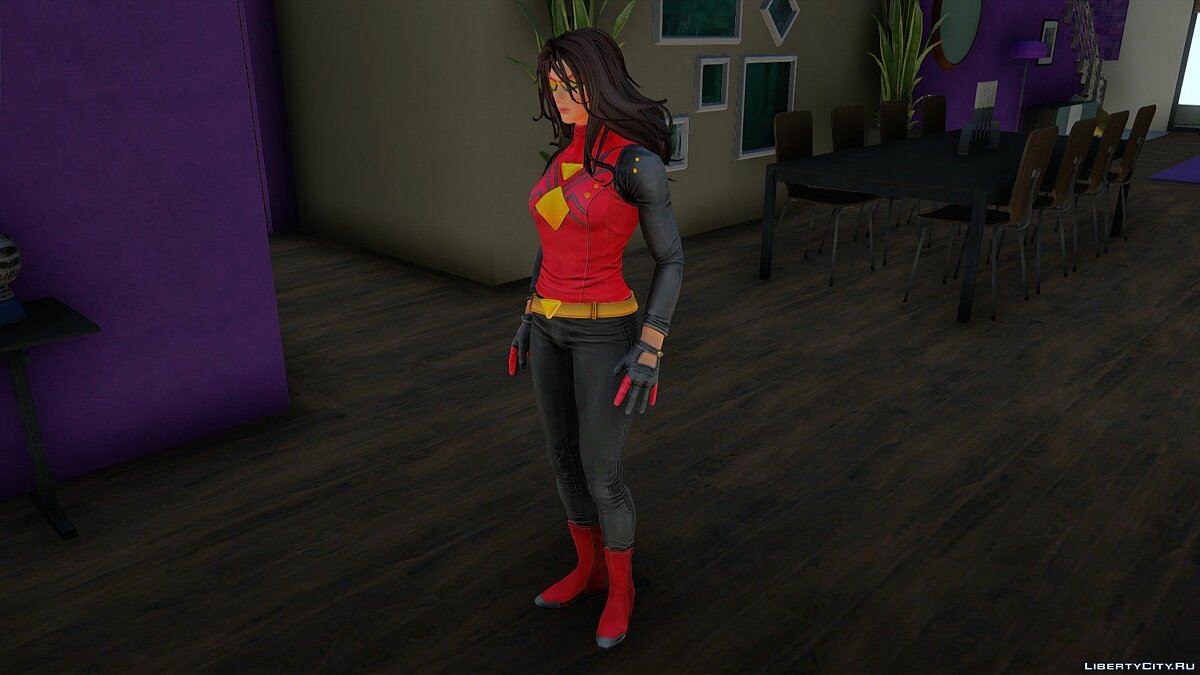 New character Spider woman for GTA San Andreas