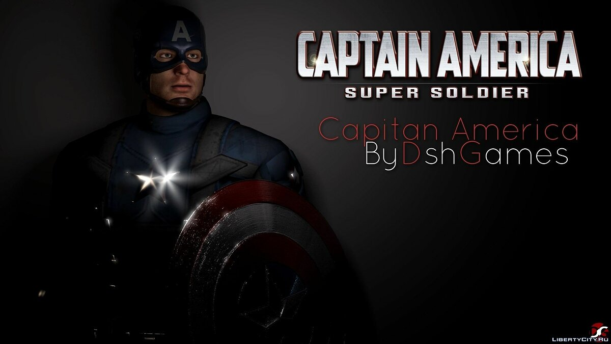 New character Captain America: The First Avenger for GTA San Andreas