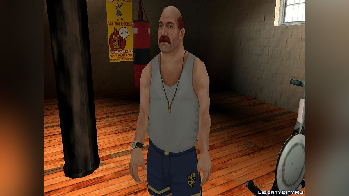 New character Coach from the game Bully for GTA San Andreas