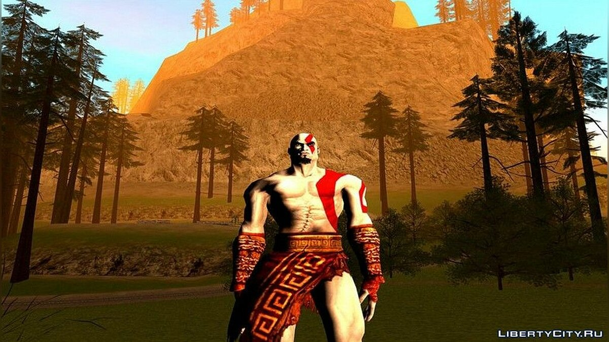 New character Kratos God Of War 2 for GTA San Andreas
