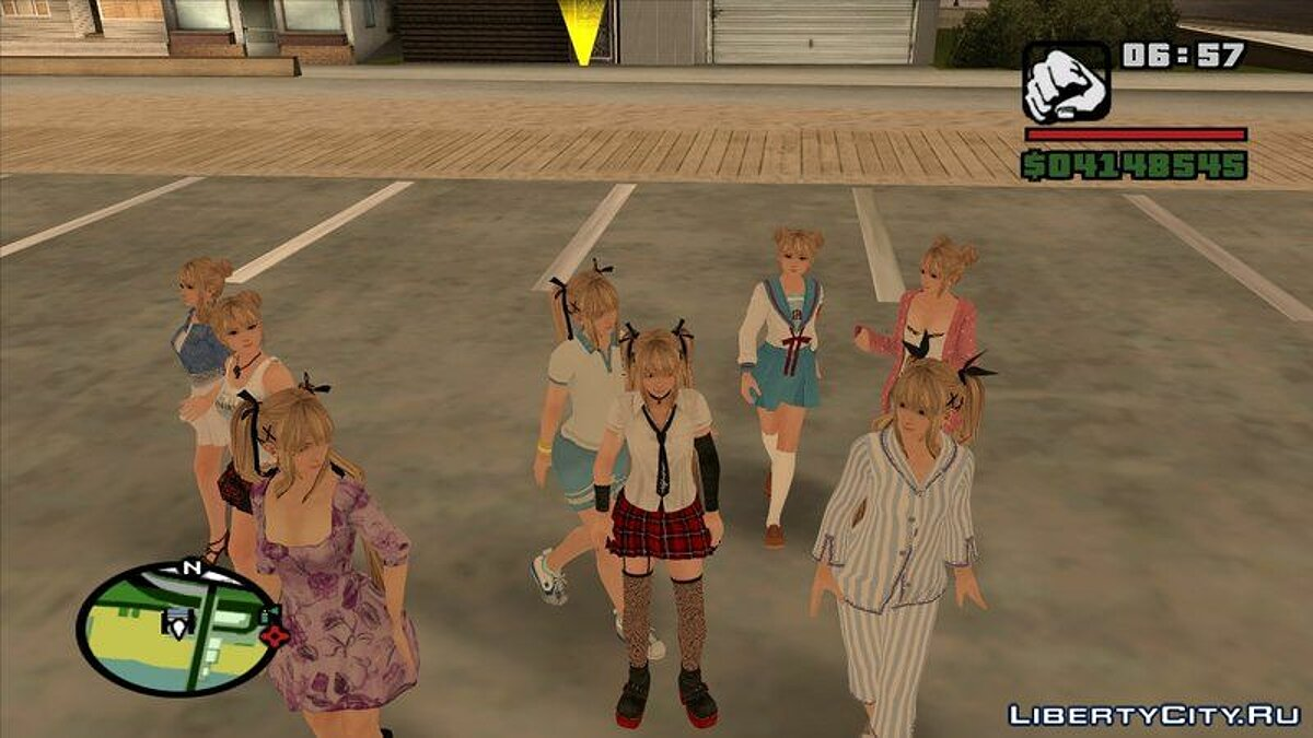 New character New girls for CJ for GTA San Andreas