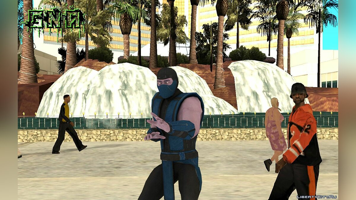 New character Klassic Sub-Zero MKXM for GTA San Andreas