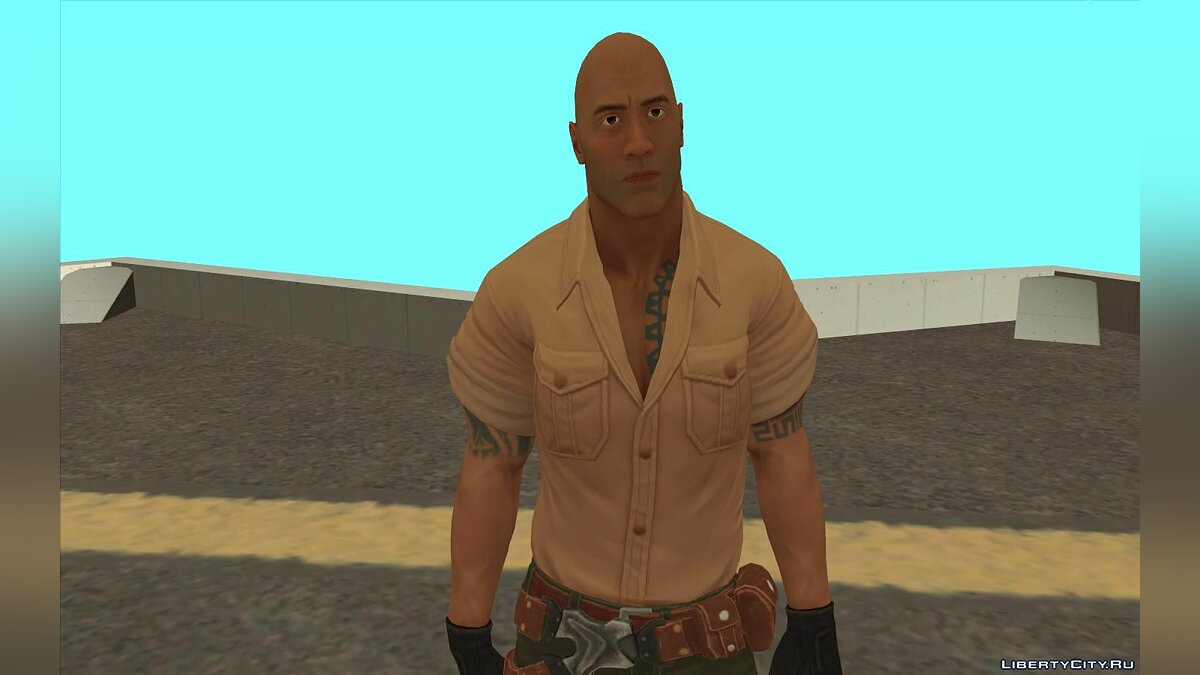 New character Dr. Smolder Bravestone from Jumanji / The Rock movie for GTA San Andreas