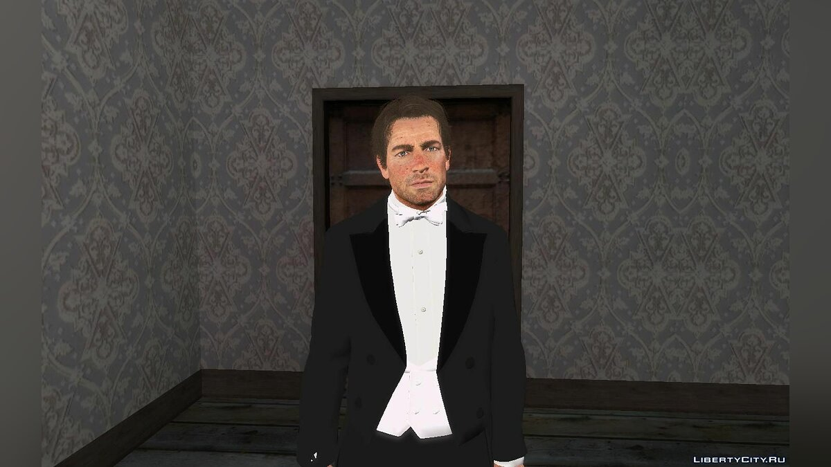 New character Arthur Morgan in a tuxedo (from RDR2) for GTA San Andreas
