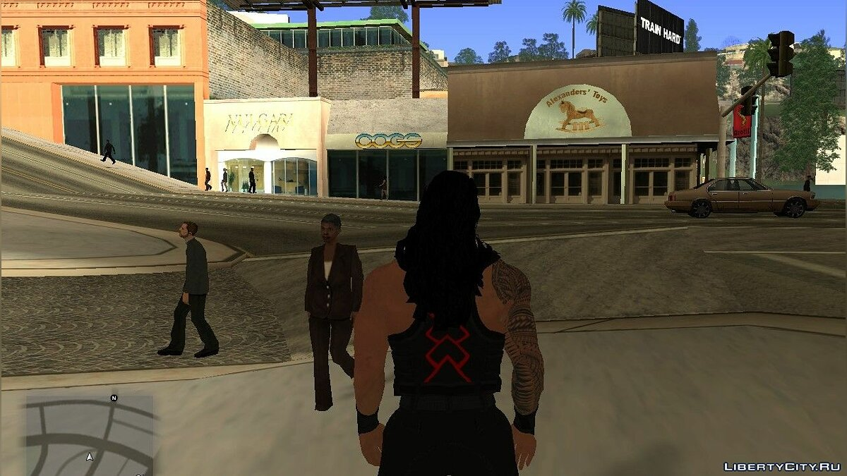 New character Roman Raines from WWE2k19 for GTA San Andreas