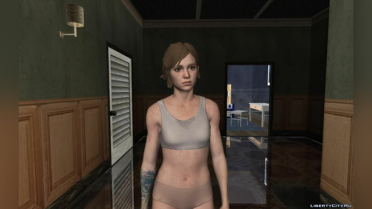 New character Ellie in lingerie from The Last of US for GTA San Andreas