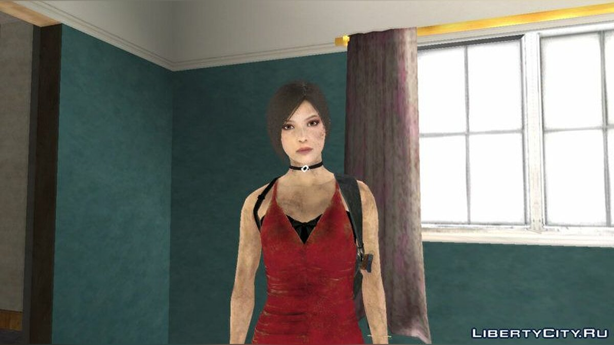 Ada Wong with bandaged leg from RE2 Remake for GTA San Andreas