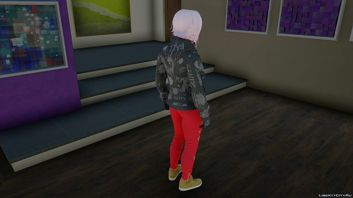 New character Moon in casual clothes v2 for GTA San Andreas