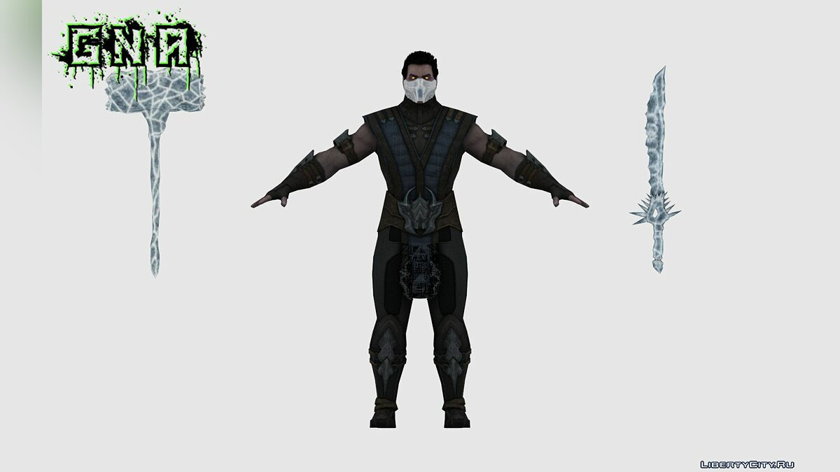 New character Revenant Sub-Zero MKXM for GTA San Andreas