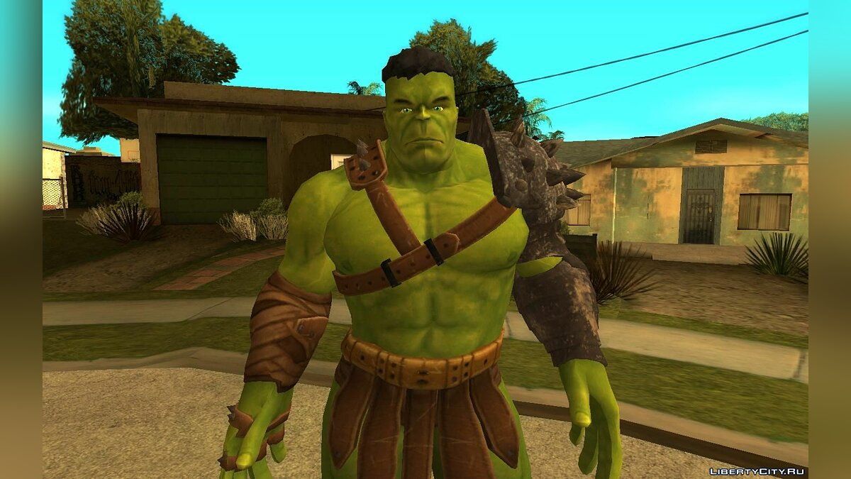 New character Hulk planet for GTA San Andreas