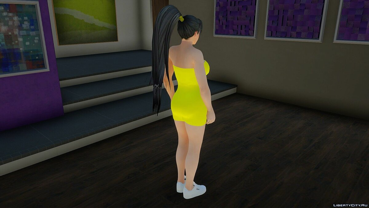 New character Momiji in a dress for GTA San Andreas