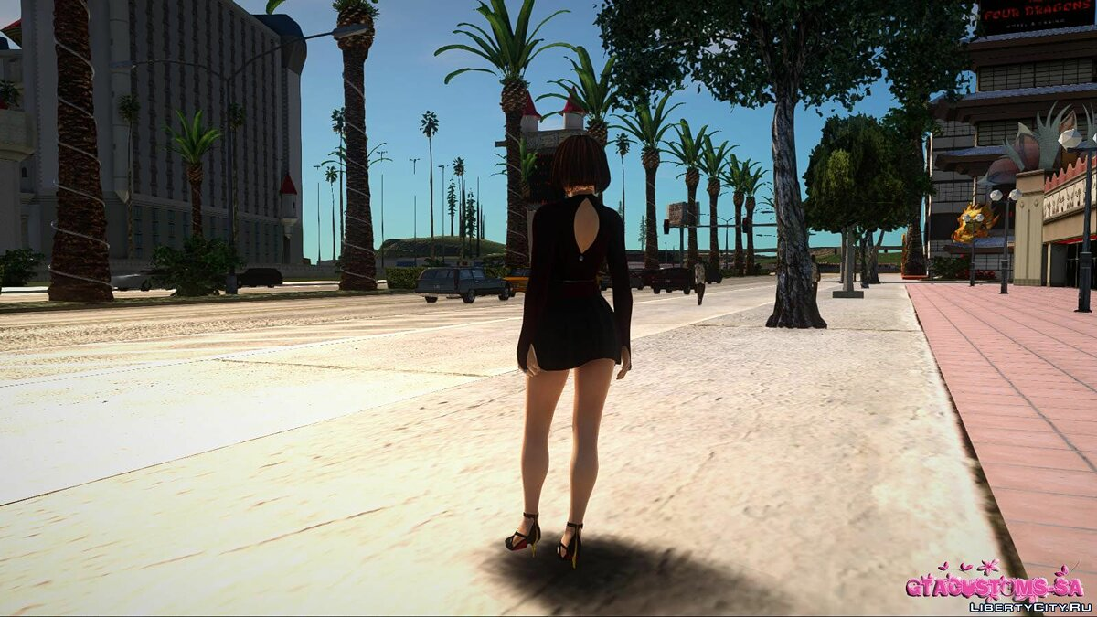New character Kasumi in casual wear v7 for GTA San Andreas