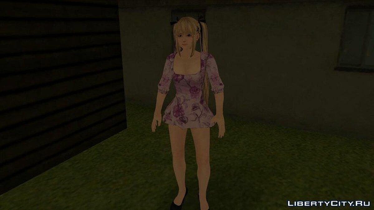 Mary Rose in a purple dress from the game Dead or Alive 5 for GTA San Andreas