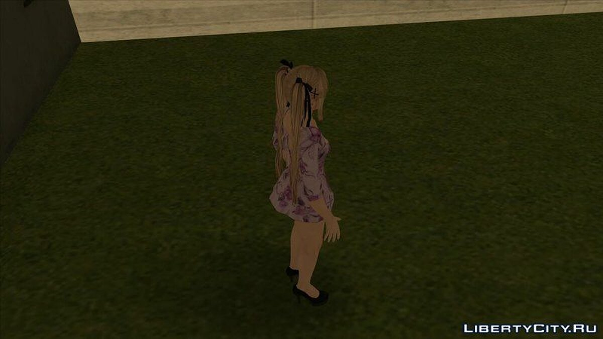 Mary Rose in a purple dress from the game Dead or Alive 5 for GTA San Andreas - screenshot #3
