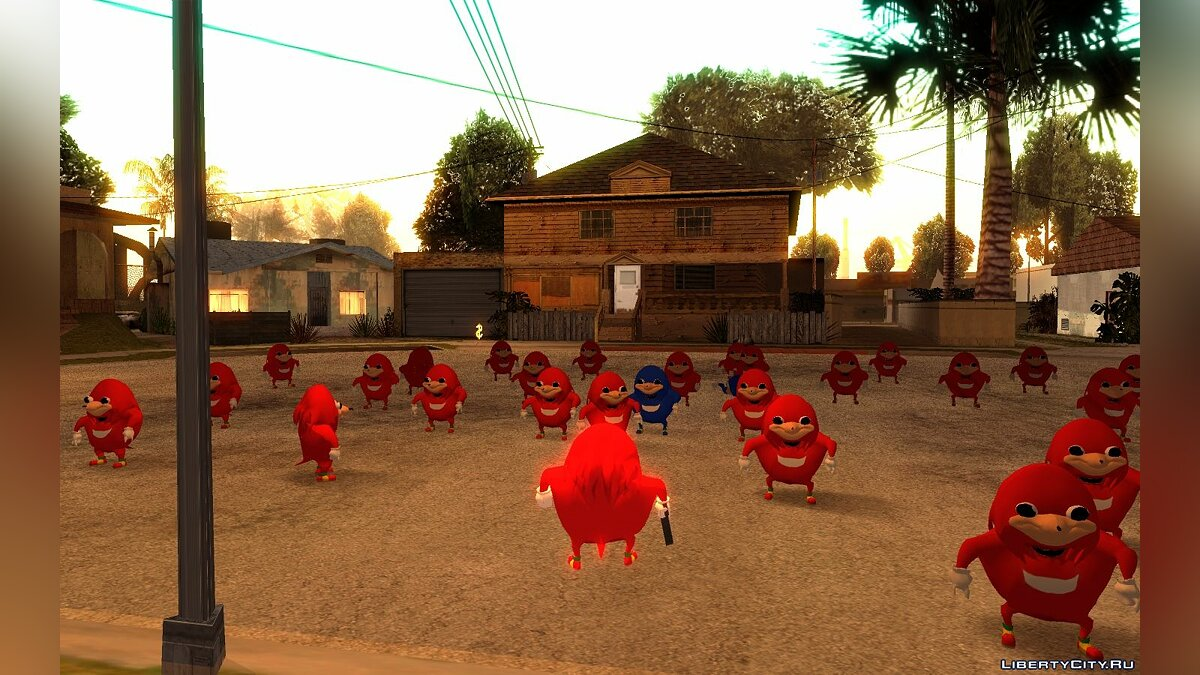 Ugandan Knuckles for GTA San Andreas - screenshot #2