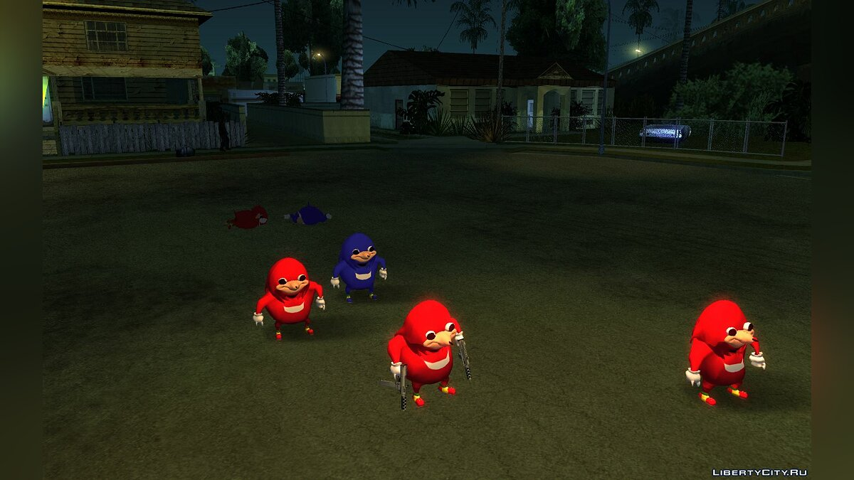 Ugandan Knuckles for GTA San Andreas - screenshot #5