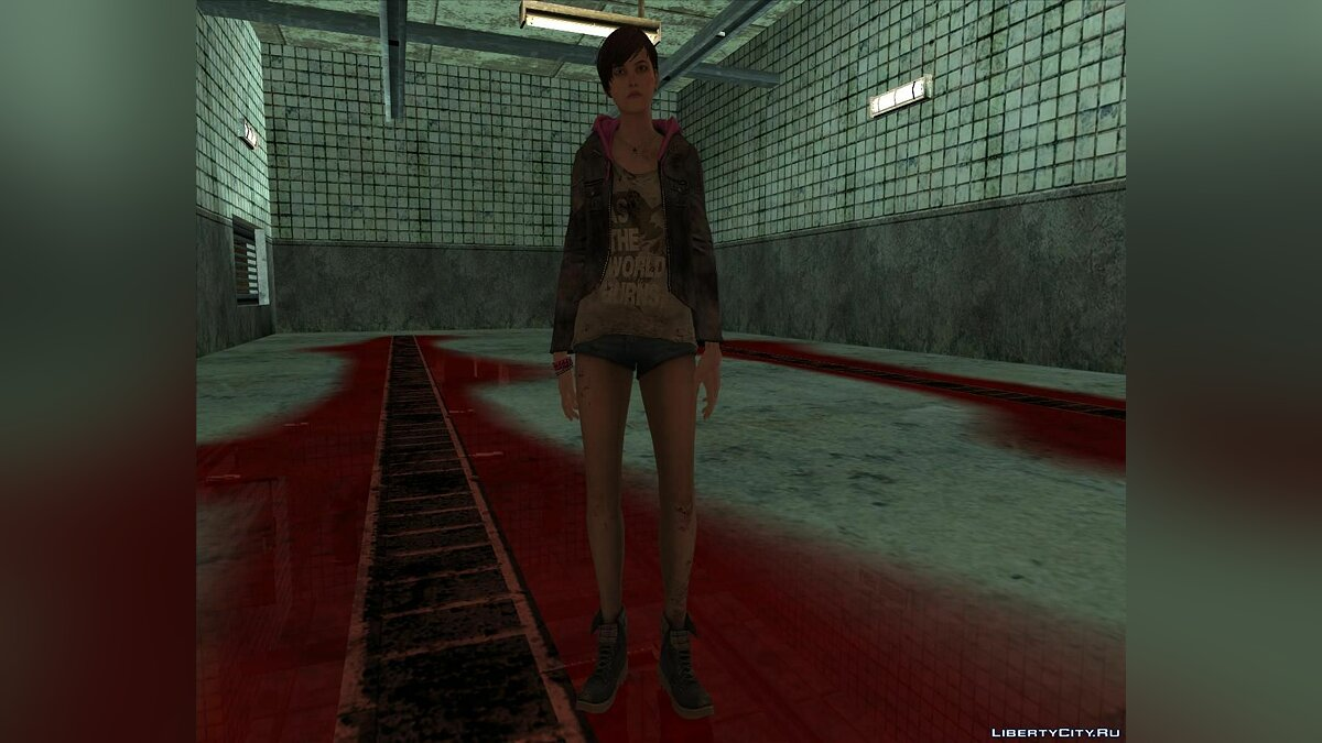 New character Moira Burton with bare legs from the game