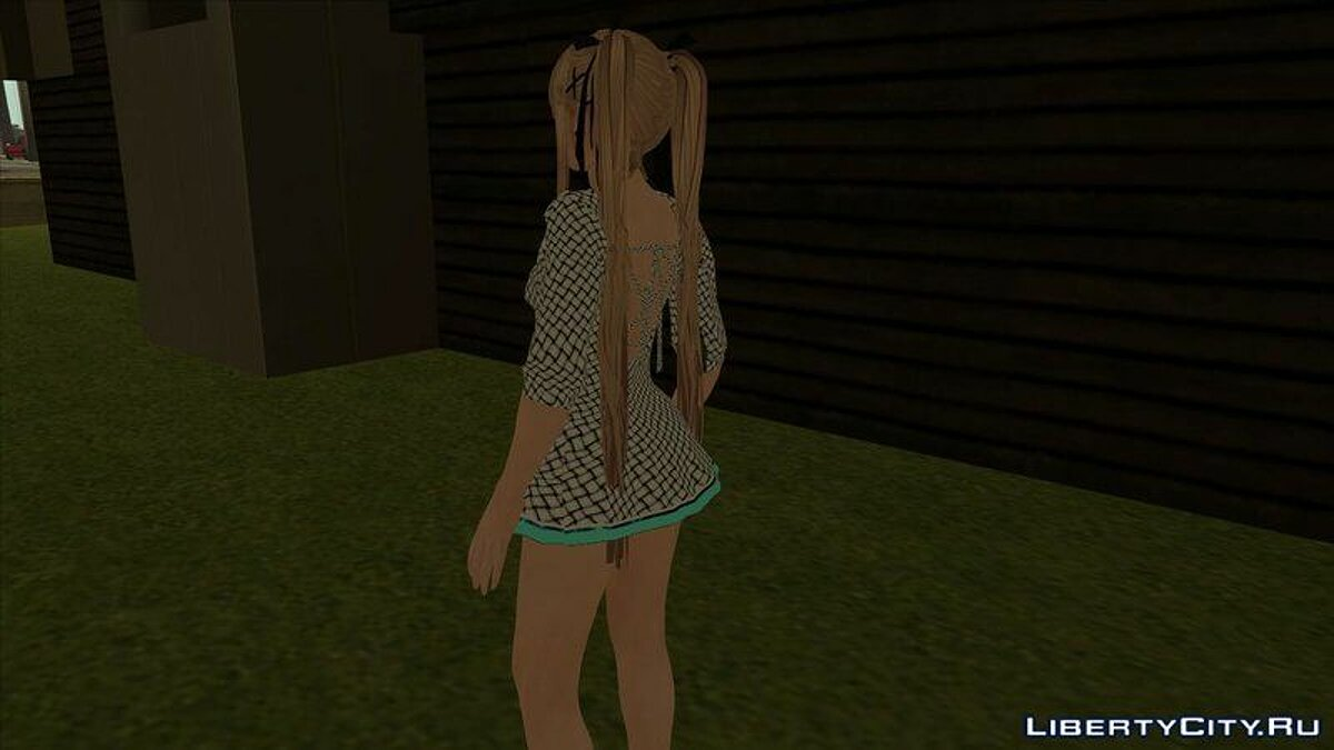 New character Mary Rose in a white dress from the game Dead or Alive 5 for GTA San Andreas