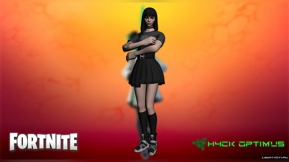 New character Charlotte from Fortnite for GTA San Andreas