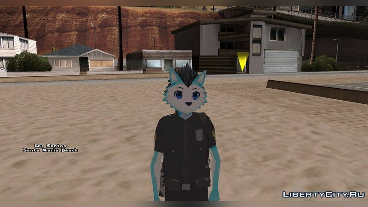 New character Police Officer Skin - Furry for GTA San Andreas