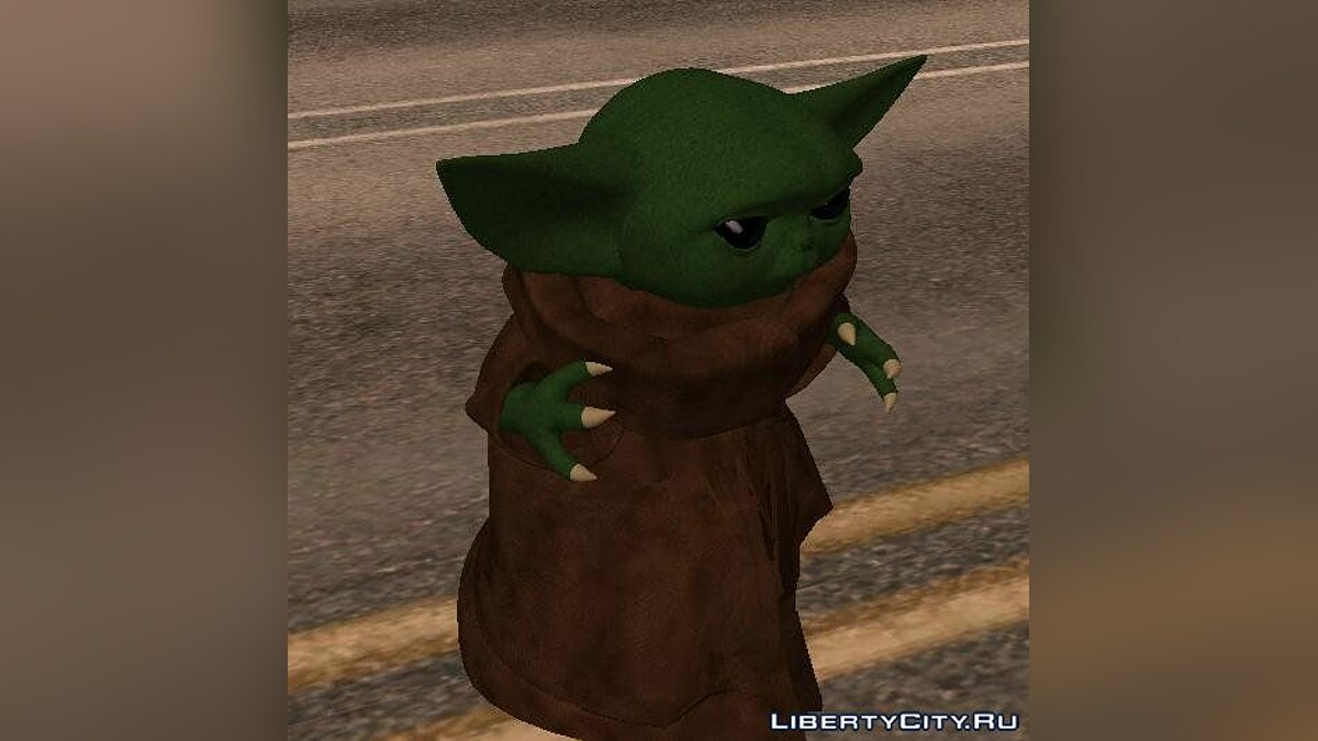 "Baby Yoda from the TV series ""Mandolorets"" for GTA San Andreas - screenshot #2"