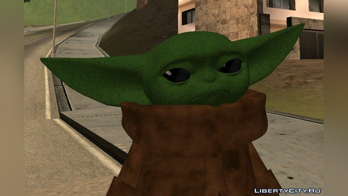 "Baby Yoda from the TV series ""Mandolorets"" for GTA San Andreas"
