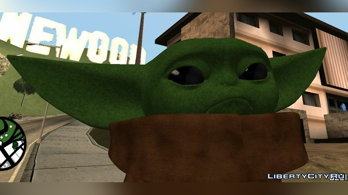 "Baby Yoda from the TV series ""Mandolorets"" for GTA San Andreas - screenshot #3"