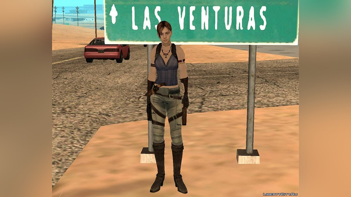 New character Jill in Sheva's costume for GTA San Andreas