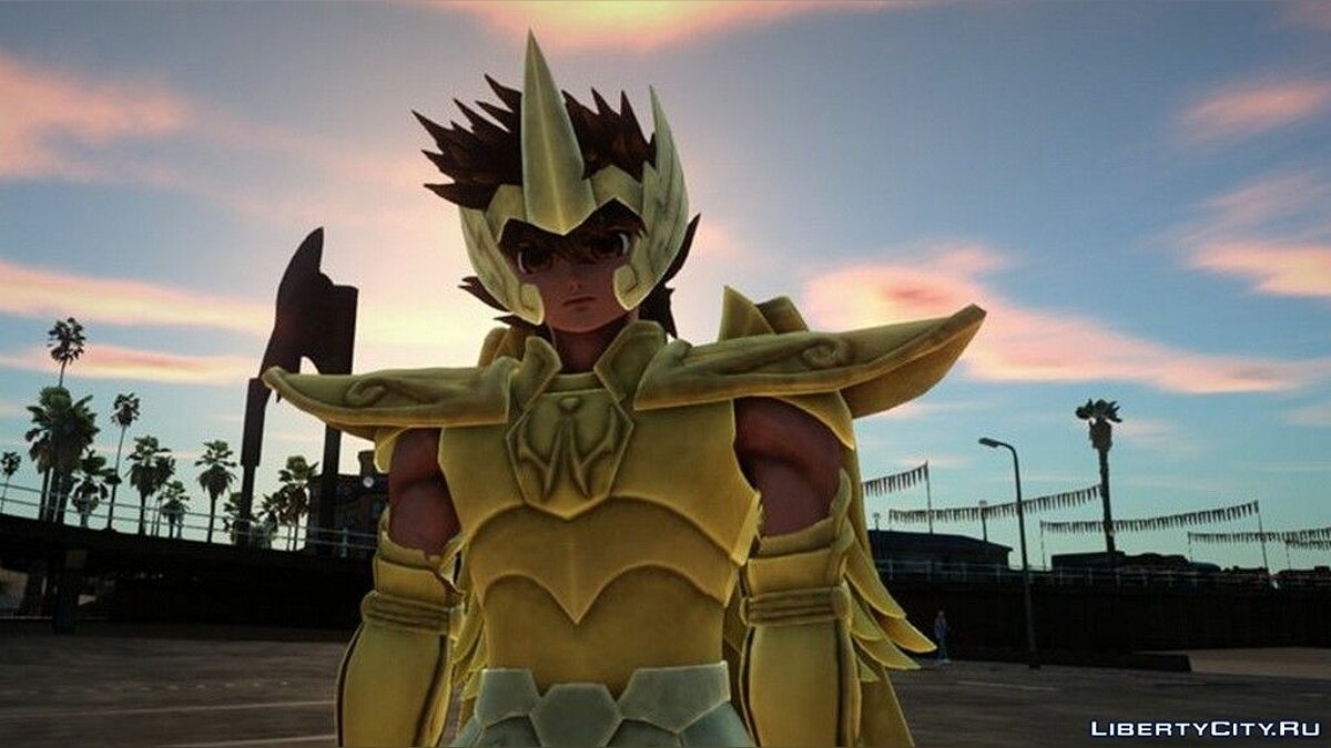New character Pegasus Seia in golden armor for GTA San Andreas