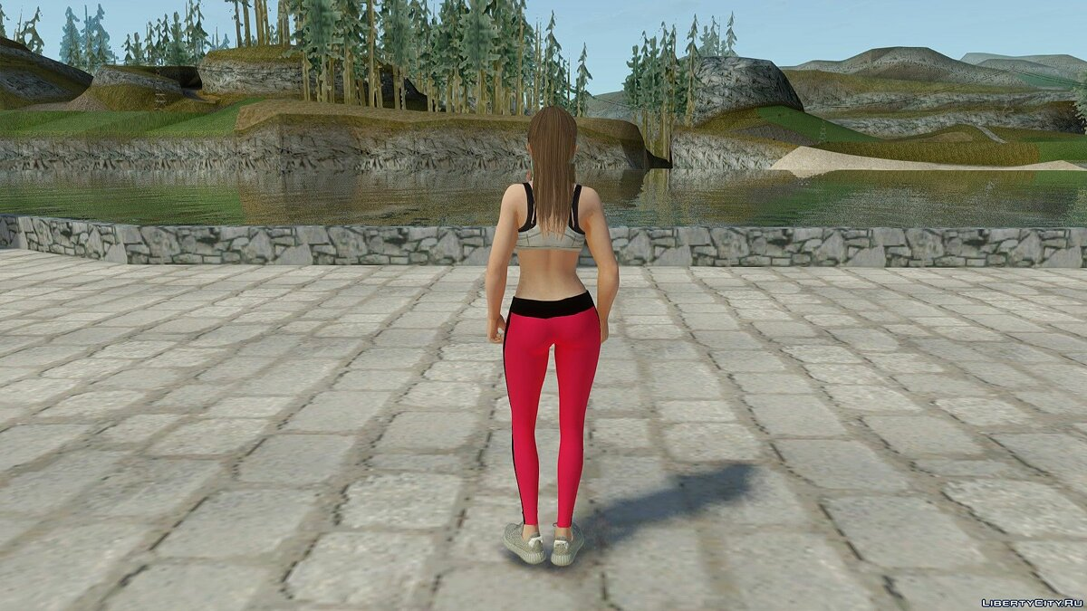 New character Misaki in casual wear v11 for GTA San Andreas