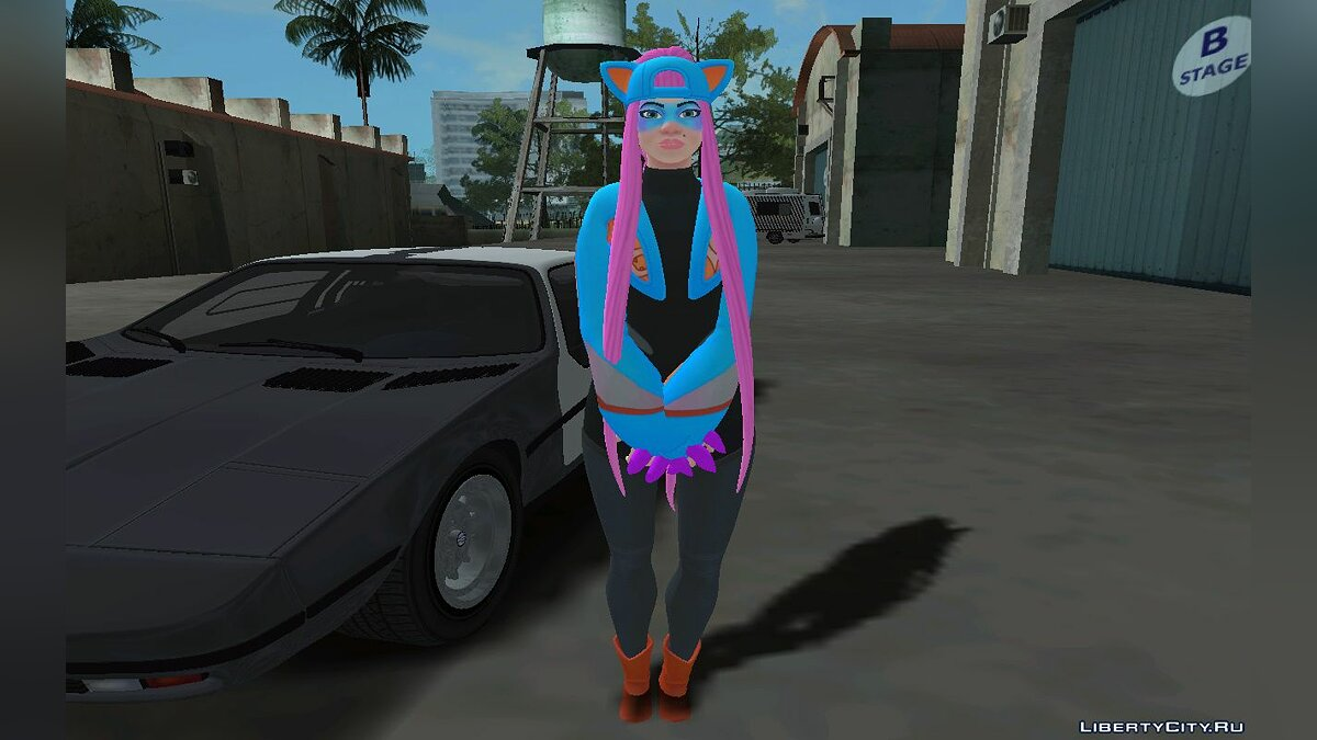 New character Alli from Fortnite for GTA San Andreas