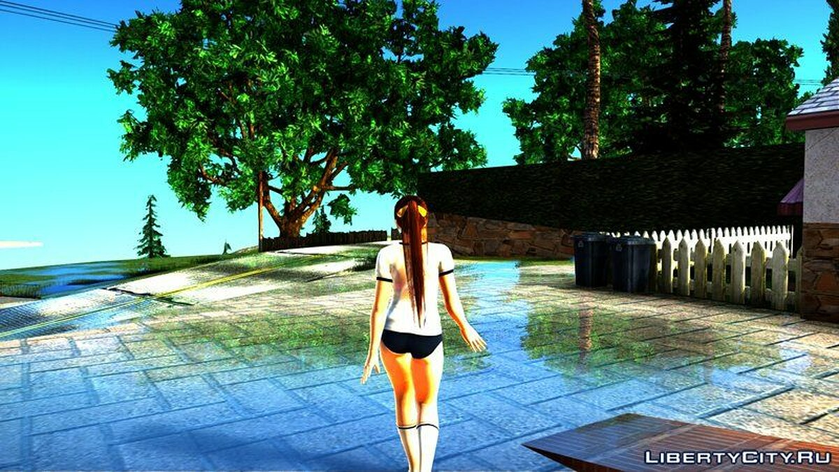 New character Kasumi in a transparent T-shirt for GTA San Andreas