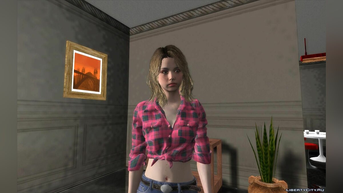 New character Becca woolet for GTA San Andreas