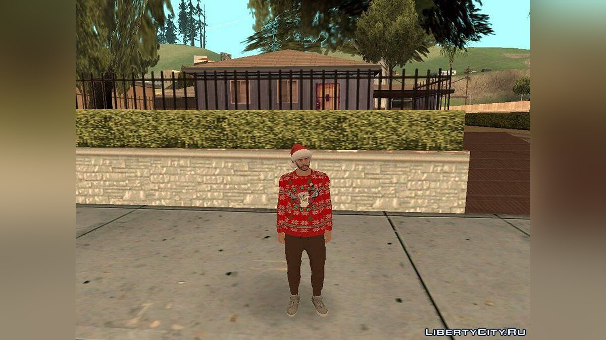 New character GTA Online Christmas Pack for GTA San Andreas