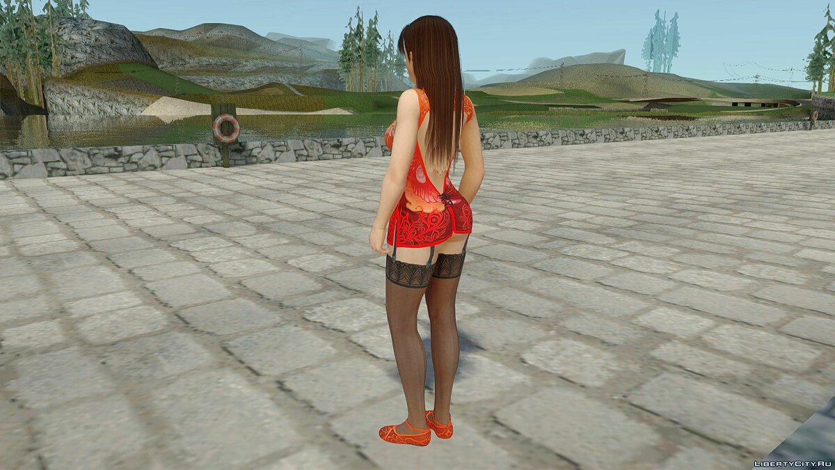 New character Lei Fang in Stockings for GTA San Andreas