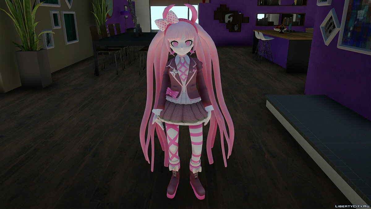 New character Kotoko Utsugi from Danganronpa Another Episode: Ultra Despair Girls for GTA San Andreas
