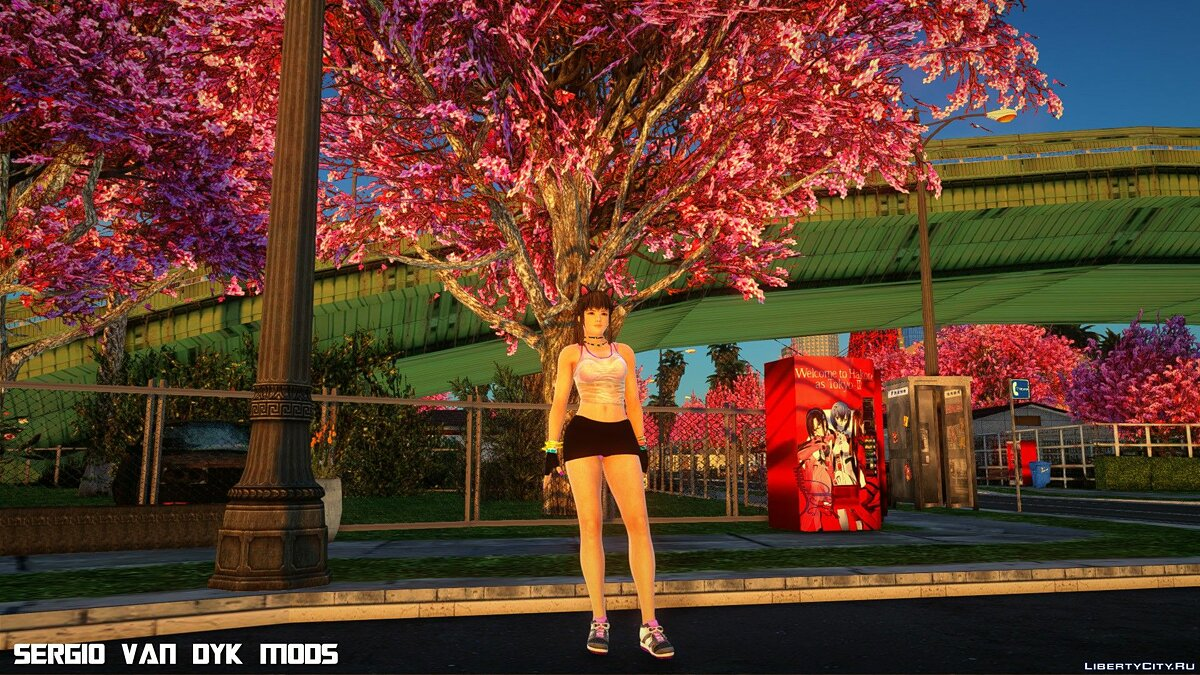 New character Hitomi in sportswear for GTA San Andreas