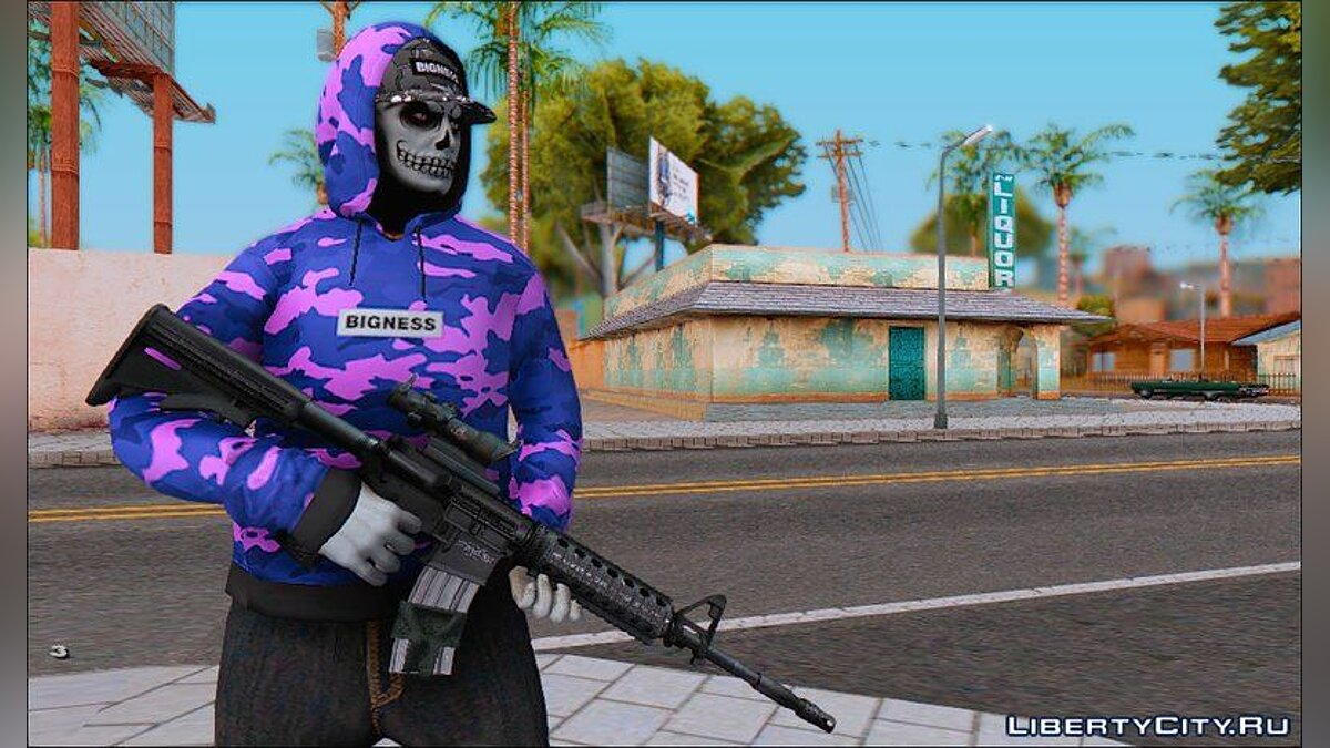 New character Skin from SeVer SchooL for GTA San Andreas
