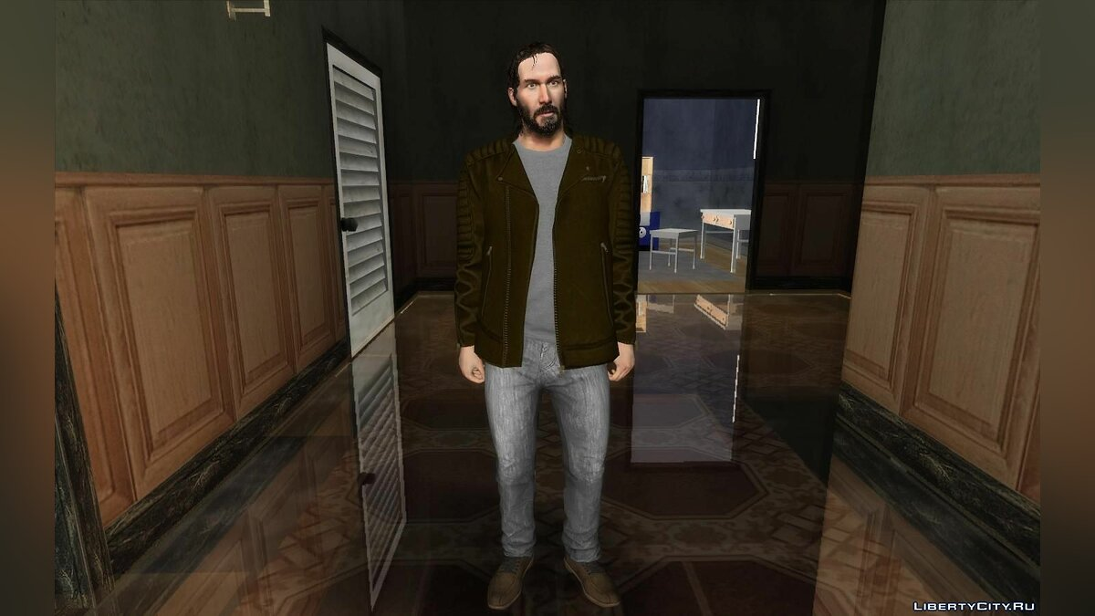New character Keanu Reeves in casual clothes for GTA San Andreas