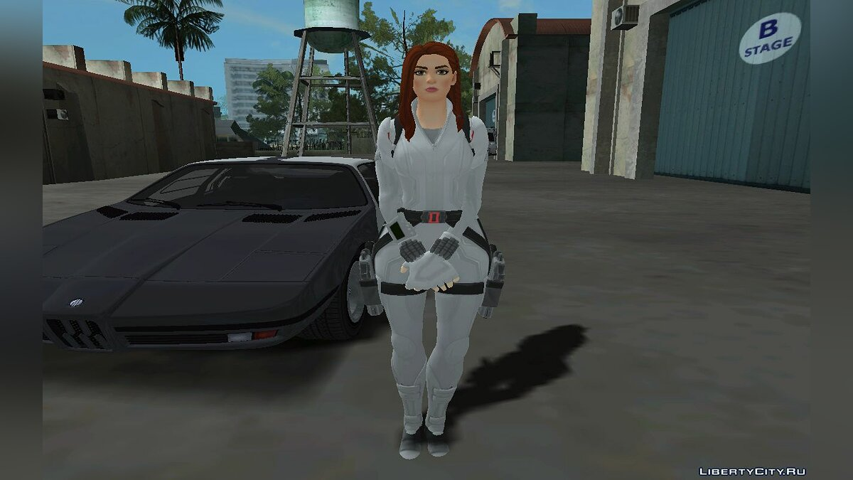 New character Fortnite Black Widow White Suit for GTA San Andreas
