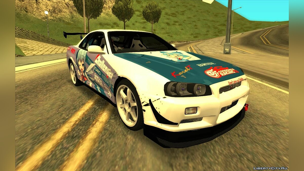 Nissan Skyline GT-R R34 Itasha for GTA San Andreas - Картинка #1