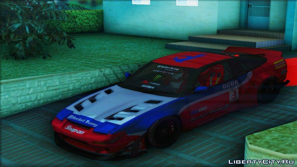 Nissan car Nissan 180SX Rocket Bunny 1996 for GTA San Andreas