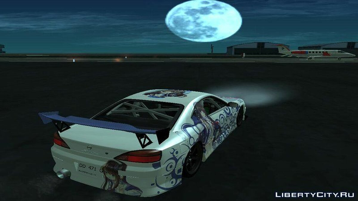 Nissan car Nissan Silvia S15 Itasha Long Island Azur Lane for GTA San Andreas