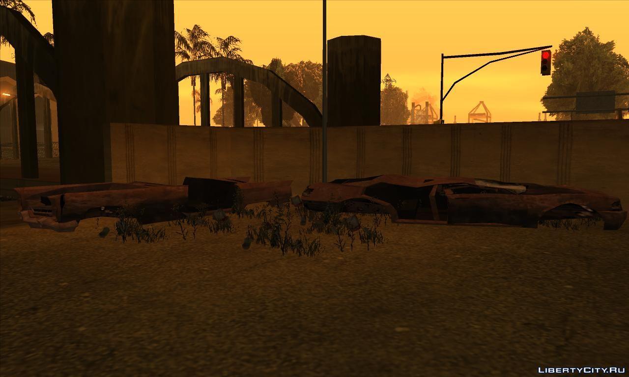 Replacement of la_fuckcar2 dff in GTA San Andreas (15 file)
