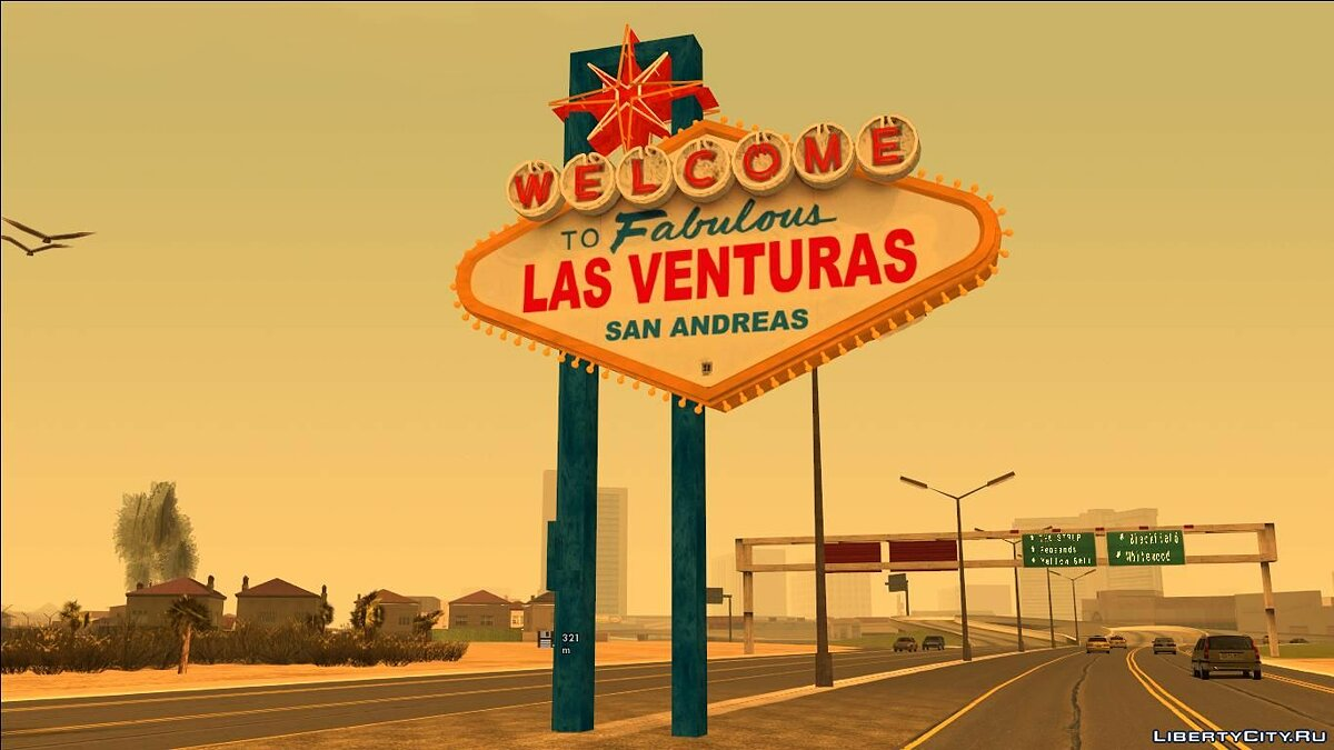 New object Welcome Las Venturas Sign Remastered for GTA San Andreas