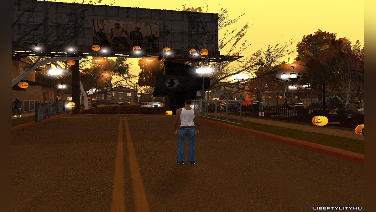 New object Halloween Decorations at Grove Street 2020 for GTA San Andreas