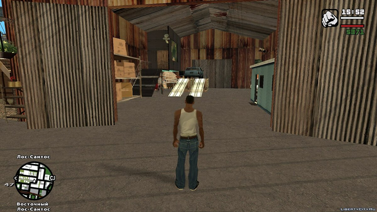 New object LAe2: Open Garage Mod for GTA San Andreas