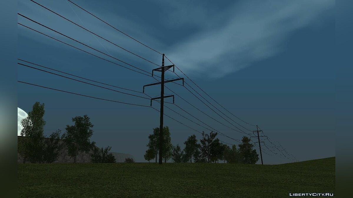 New object Set of the updated support of the high voltage line + wires of 110 kW for GTA San Andreas