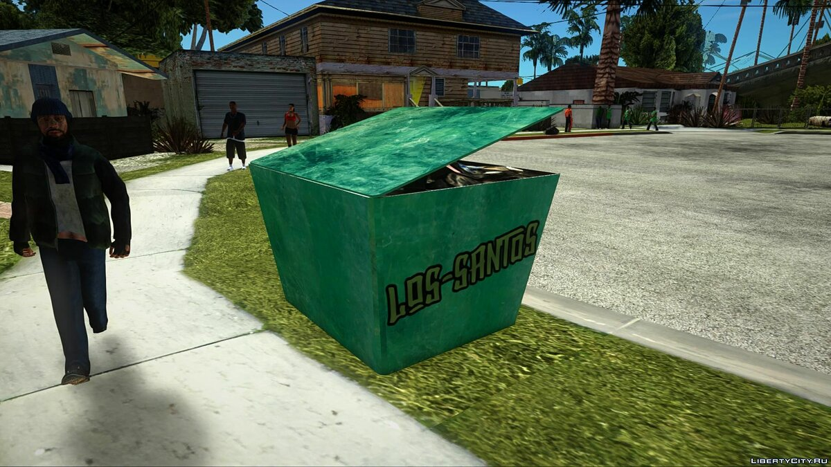 New object Garbage box (Green) for GTA San Andreas