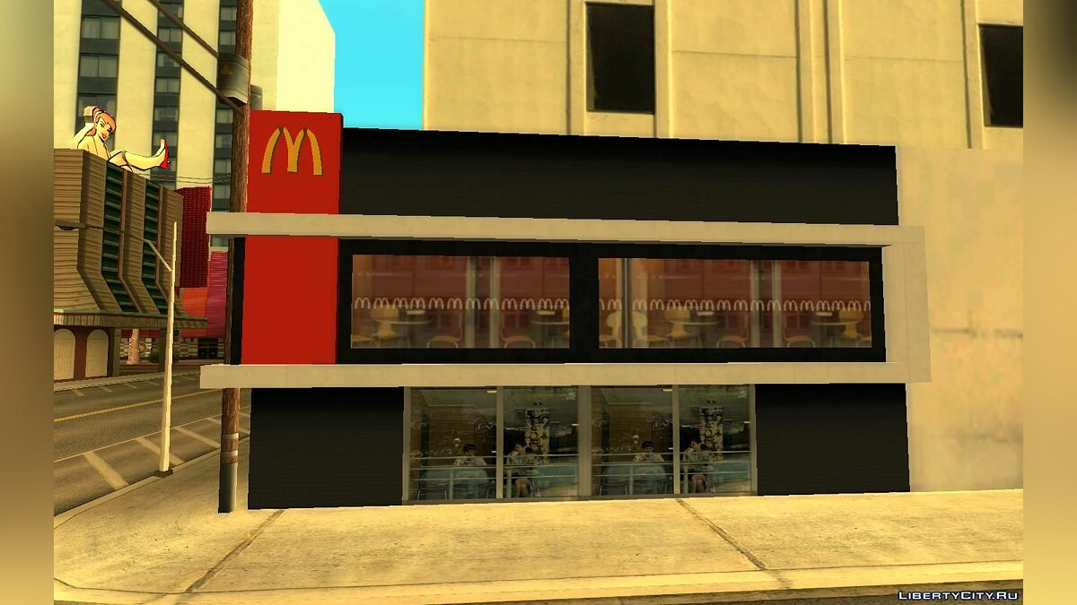 New object McDonald's in Las Venturas for GTA San Andreas